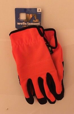 BRAND NEW Wells Lamont Cold Weather Touch Screen Orange Hunting Glove 7745L
