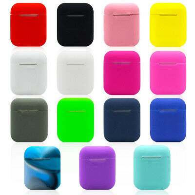 Slim For Apple AirPods Silicone Shockproof Earphones Protective Cover Case Skin