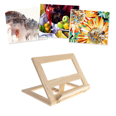 Adjustable Wooden Pad Easel Tablet Document Cookbook Display Stand Holder Tool