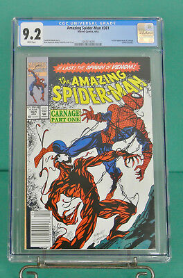 Amazing Spider-Man 361 CGC 9.2 first appearance Carnage 1st print NEWSSTAND N/M