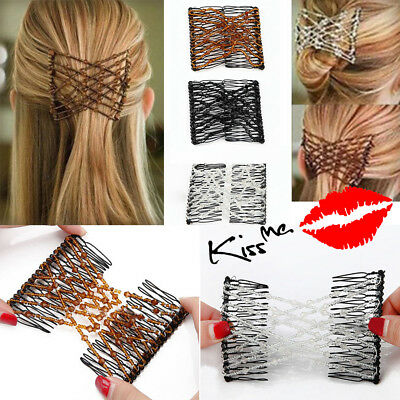 New Beads Magic Elastic Hair Comb Hairstyle Design Accessories Strong Hairpins