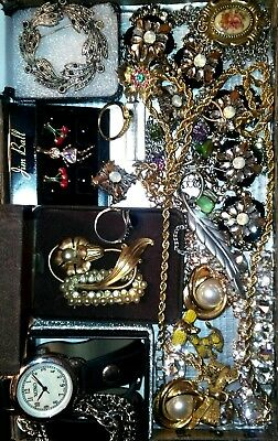 Huge Vintage & Now Jewelry Lot Estate Find Junk Drawer UNSEARCHED UNTESTED#lucky