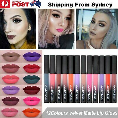 Women Waterproof Matte Lip Gloss Liquid Long Lasting Lipstick Makeup Velvet Beau