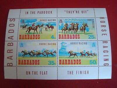 Barbados - Horse Racing - Minisheet - Unmounted Mint Miniature Sheet