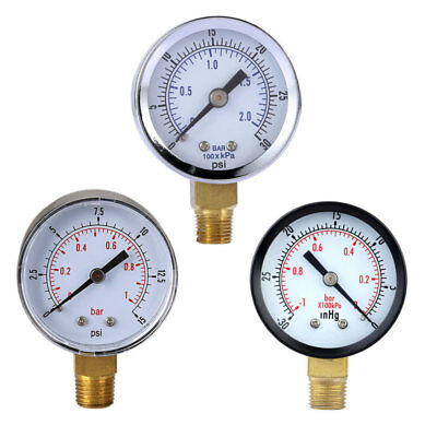 NEW Stainless Steel Hydraulic Liquid Filled Pressure Gauge 0-30 PSI 0-2bar FHY