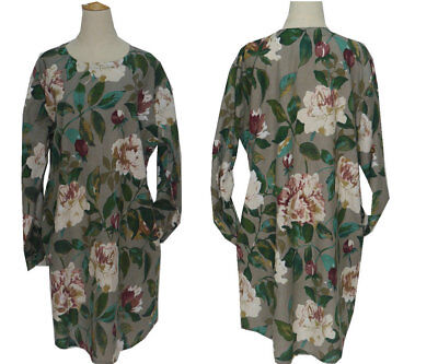 Women s Floral Loose Casual Tunic Tops Shirt Long Sleeve with Pocket e8f30ab07
