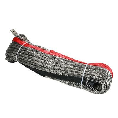 "10mm*28m 3/8""*92' 20500lbs High Strength Synthetic Winch Line Cable Rope R6E2"