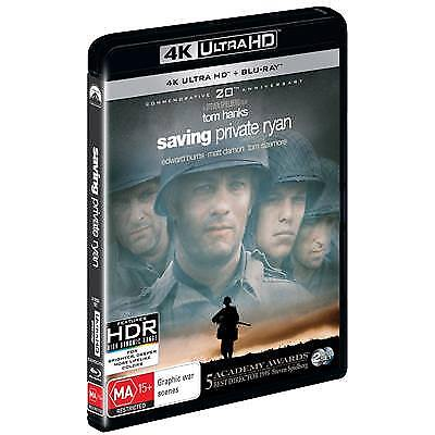 Saving Private Ryan (4K Ultra HD/ Blu-Ray, 2018, 2-Disc Set) (Region B) New