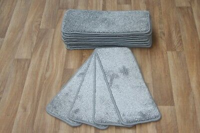14 Carpet Stair Case Treads Vicace Grey 306 Saxony Large Pads Stair Pads