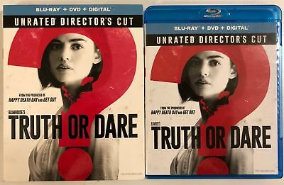 Truth Or  Dare Unrated Director's Cut Blu Ray Dvd 2 Disc Set + Slipcover Sleeve