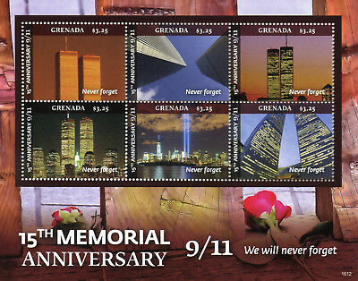 Grenada 2016 MNH 11th September 15th Memorial 6v MS New York Architecture Stamps