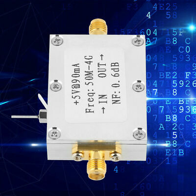 Low Noise LNA 0.05/50M-4GHz NF=0.6dB RF Amplifier FM HF/VHF/UHF Ham Radio g1