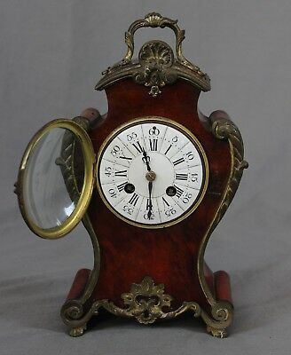 19th 20th Century French Boulle Mantle Clock c1900