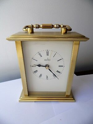 Solid Brass Case Acctim Quartz Carriage Alarm Clock