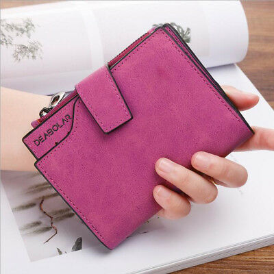 Fashion Leather Small Wallet Luxury Women Short Coin Zipper Purse Card Holder
