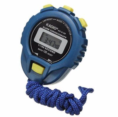 Digital Handheld Sports Stopwatch Stop Watch Time Clock Alarm Counter Timer Uk