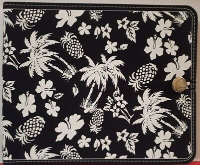 """8X8"""" Scrapbook Album B & W Floral x  Cre8tiv 10 pages W/- 10 Inserts Can Add to"""
