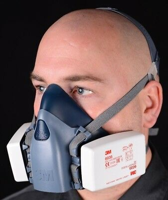 3M 7501 S / 7502 M / 7503 L Half Face Premium Reusable Dust Mask / Respirator