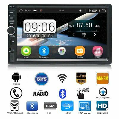Car Stereo GPS Navigation Autoradio AM / FM 2 Din Touch screen da 7 pollici BT