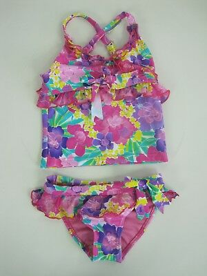 2 Chillies Baby Girls 2 Piece Bebe Tankini Bikini Swimwear Swimmers sizes 4 5 7