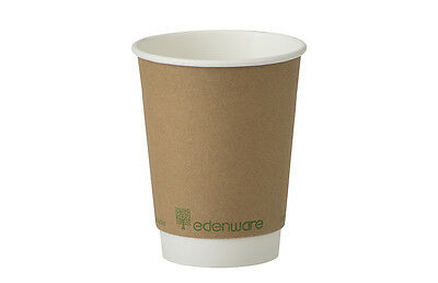 Compostable Coffee Cups and lids / Bio Degradable Double wall Hot drink 8oz 12oz