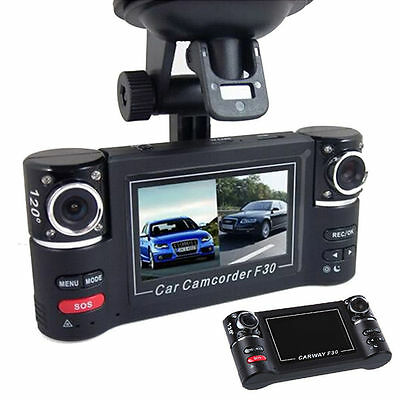 2.7'' HD Dual 1080P Car Camera Vehicle DVR Dash Cam Video Recorder Night Vision