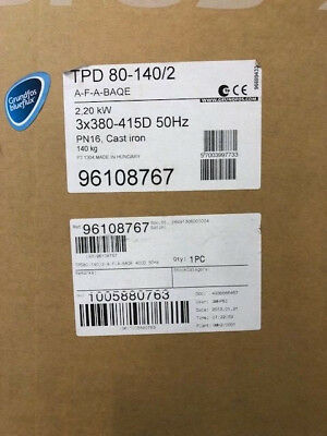 Grundfos Tpd80-140/2 96108767 2.20Kw Old But New Stock