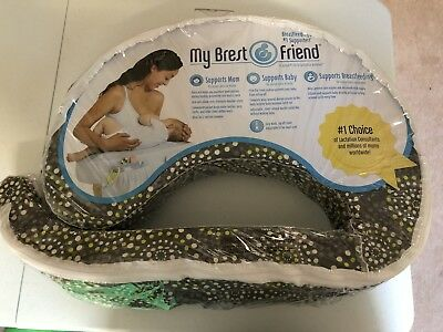 Brand New!!!My Brest Friend Nursing pillow - Grey, White and Green Fireworks