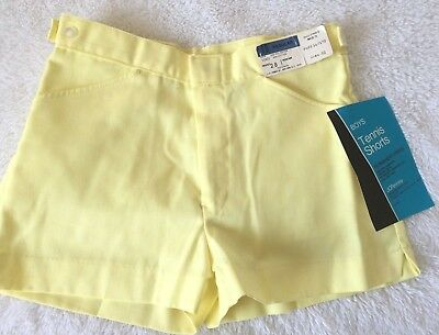 1970's Vintage YELLOW Hot TENNIS Shorts Size S ADULT ~ WAIST 28 ~ YOUTH SZ L