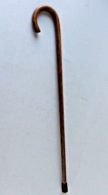 "Wooden Traditional Walking Stick Cane Round Handle Solid Wood 33.5"" High"