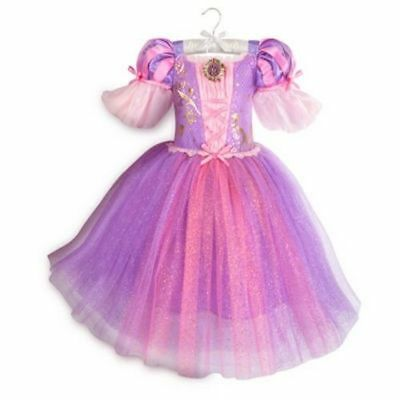 NWT DISNEY STORE Rapunzel Costume Gown Dress Tangled Girls 4 ...