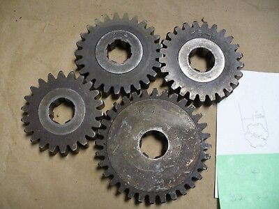 "Machine Gears 8 pitch .625"" wide, .850 ID and 1.000 Spline ID,  4 Gears Total"