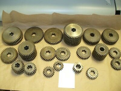 "Machine Gears 10 pitch .625"" wide, .850 ID and 1.000 Spline ID,   37 Gears Total"