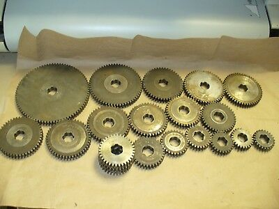 "Machine Gears 12 pitch .625"" wide, .850 ID and 1.000 Spline ID,   20 Gears Total"