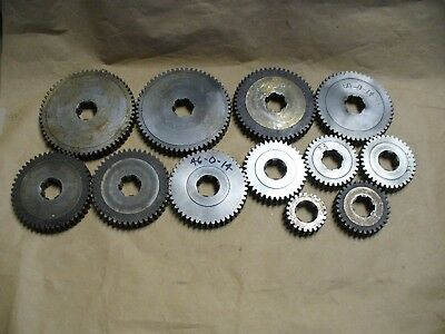 "Machine Gears 14 pitch .625"" wide, .850 ID and 1.000 Spline ID,  12 Gears Total"
