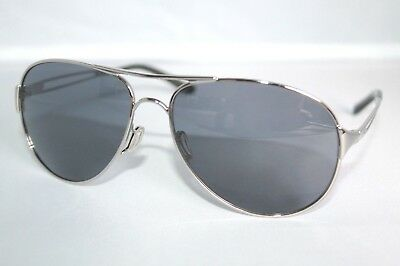 Oakley Caveat Sunglasses OO4054-02 Polished Chrome Frame W/ Grey Lens