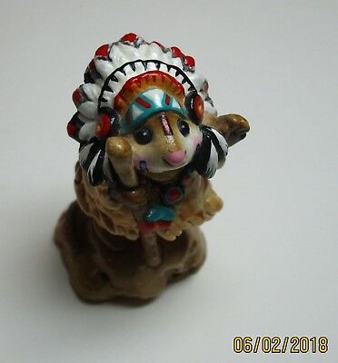 Wee Forest Folk Chief Geronimouse M-107a 1983, Retired 1995 Signed AP chipped