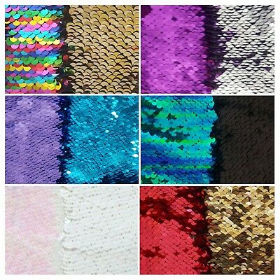Reversible Mermaid Fishscale Sequin Fabric