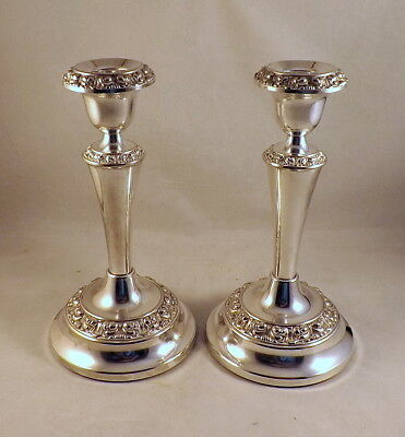 Pair Of Vintage (C1950) 'ianthe' Silver Plated Candlesticks