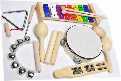 Clifton Kinderinstrument Set, 9 teilig, »9 teiliges Kinder Percussion Set mit CD