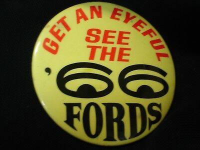 Vintage 1966 Ford Automobile Car Advertising Pinback Button