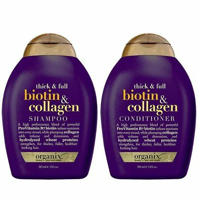 OGX Biotin & Collagen Shampoo & Conditioner 385ml Set, Thick & Full