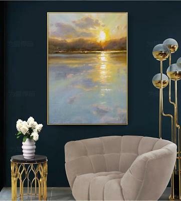 HH306 Modern Hand-painted Abstract Scenery oil painting on canvas Wall Decor