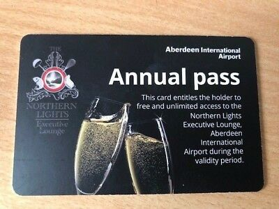 Aberdeen Airport Northern Lights Lounge Annual Pass-valid until 11.5.19