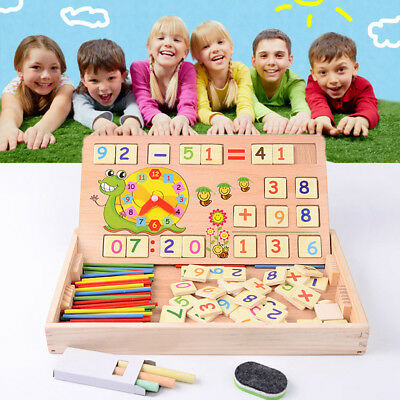 Kids Baby Wooden Toy Arithmetic Number Counting for Preschool Educational Toys