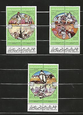 Libie - Libya - Sport Set 5 Block Of 4 Mnh - See Scans Lot (Lyb 1)