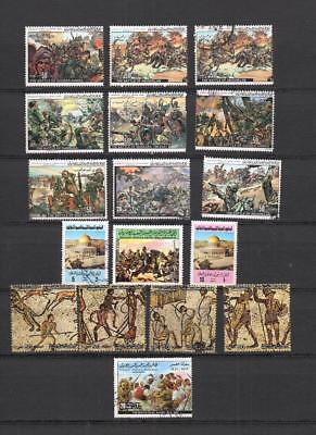 Middle East Libya Postally Used Collection Of Commemorative Stamp Lot (Lyb 81)