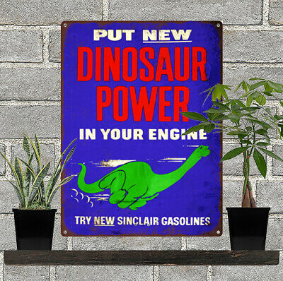 """Sinclair Dino Gasoline Oil Service Station Metal Sign Repro 9x12"""" 60564"""