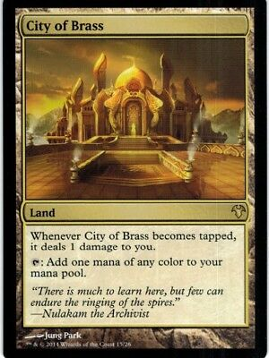 MTG 1x CITY OF BRASS - Modern Event Deck *Top Land Mana Fixer NM*