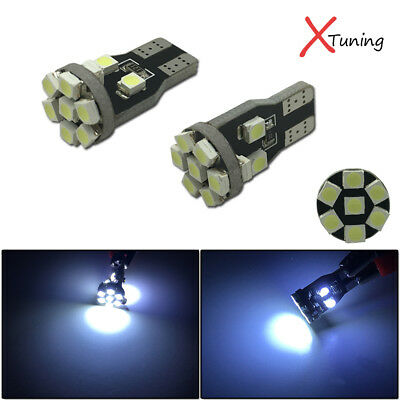 2pcs HID White 360°13-SMD 168 W5WB 2825 LED Bulbs For Car Parking Postion Light